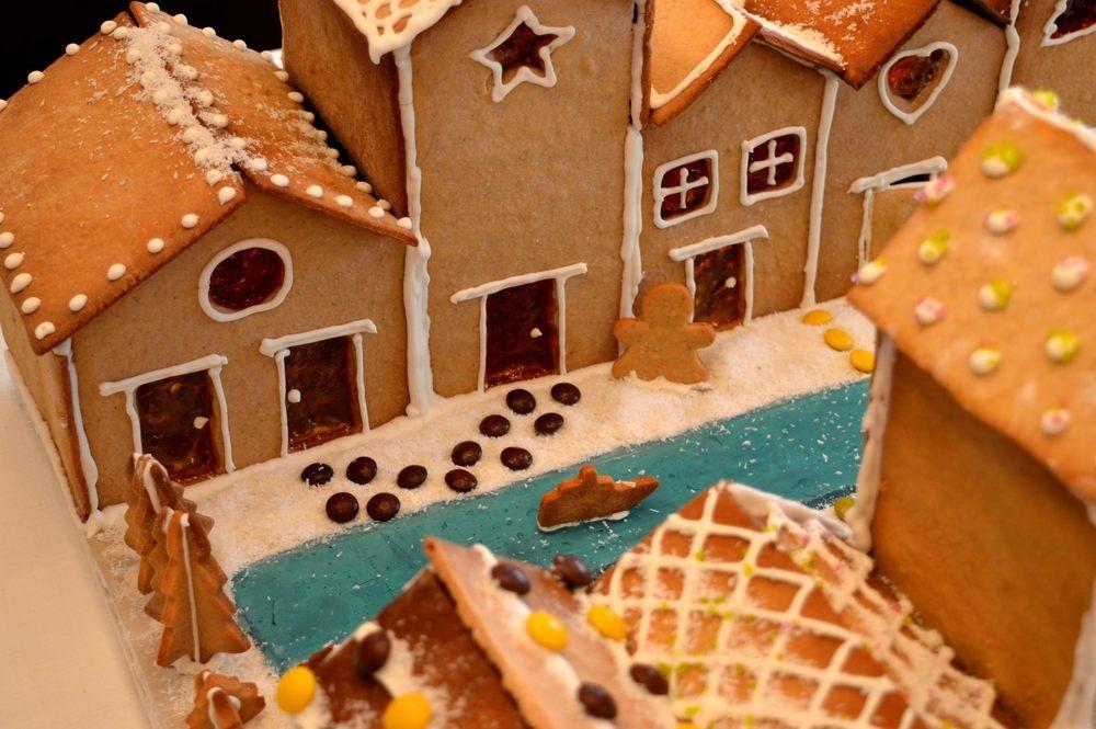 σπίτια με μπισκότα