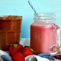 σοκολατένιο smoothie φράουλα
