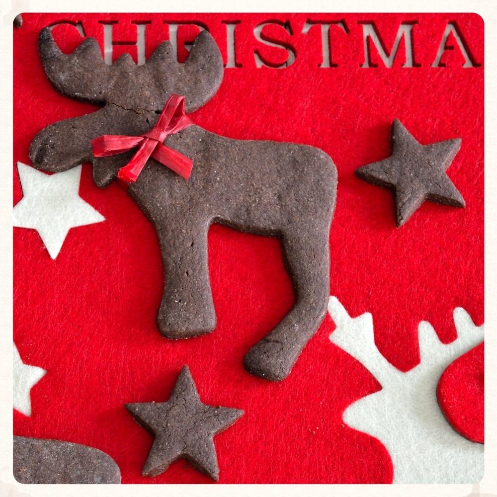 Χριστουγεννιάτικα σοκολατένια μπισκότα
