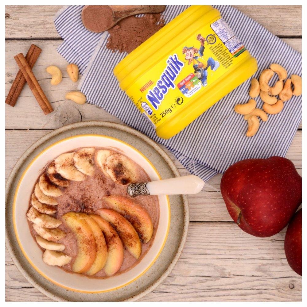 Σοκολατένιο smoothie με καραμελωμένα μήλα