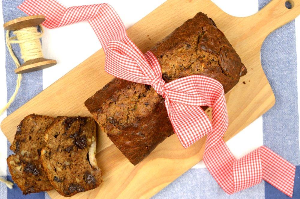Σοκολατένιο banana bread χωρίς ζάχαρη