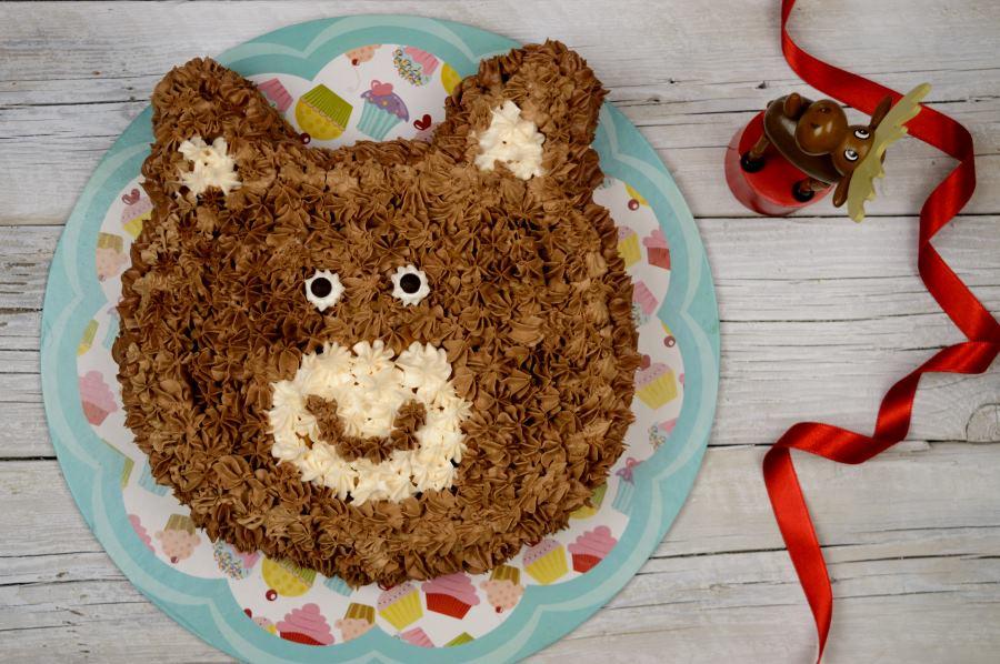 Εύκολη σοκολατένια τούρτα αρκουδάκι