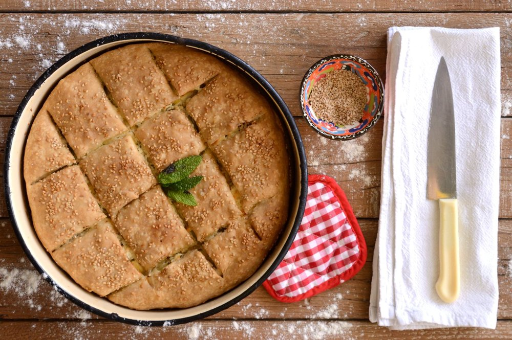 Κολοκυθομπούρεκο το Κρητικό πίτα με κολοκύθια