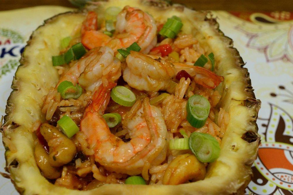 Εξωτικό ρύζι basmati με γλυκόξινη σάλτσα Uncle Ben's ανανά και γαρίδες
