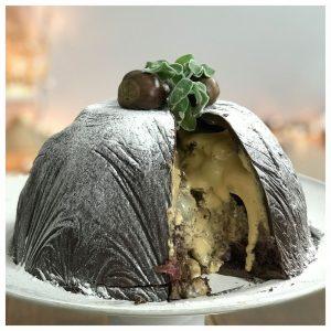 Σοκολατένια τούρτα βόμβα με καραμέλα