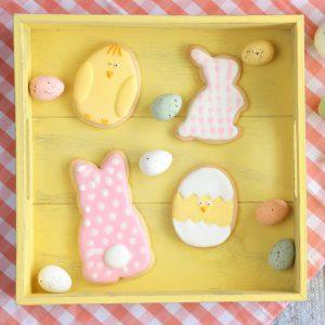 Γλάσο για μπισκότα σε πασχαλινά σχέδια