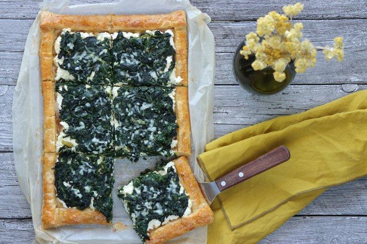 Μεσογειακή τάρτα με σπανάκι και φέτα