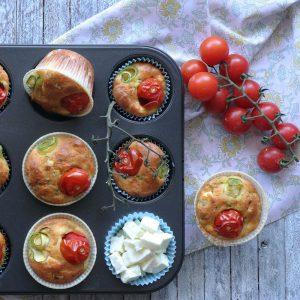 Αλμυρά muffins με λαχανικά