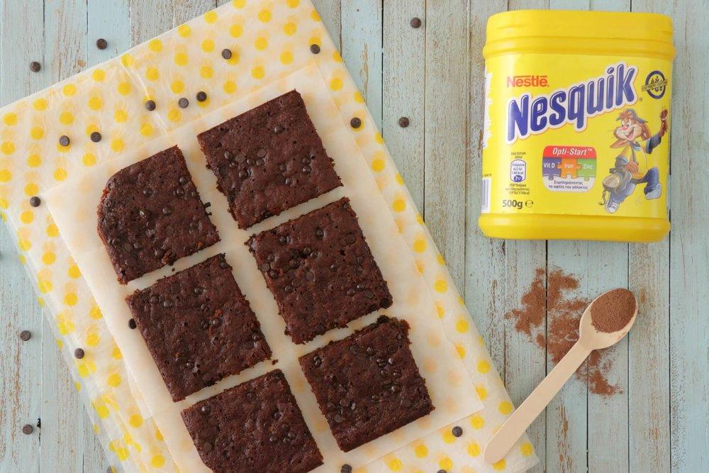 Υγεινιά σοκολατένια brownies με κολοκύθα