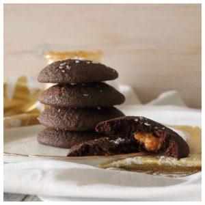 Σοκολατένια μπισκότα με καφέ και dulce de leche