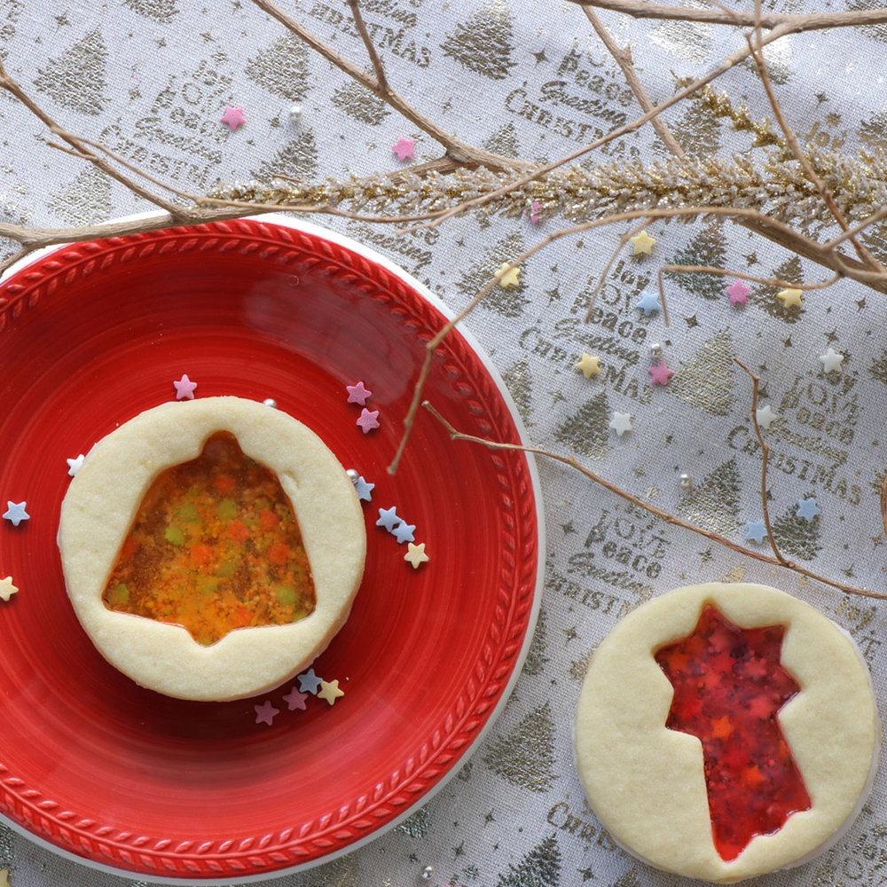Μπισκότα με καραμέλες και ζαχαρωτά
