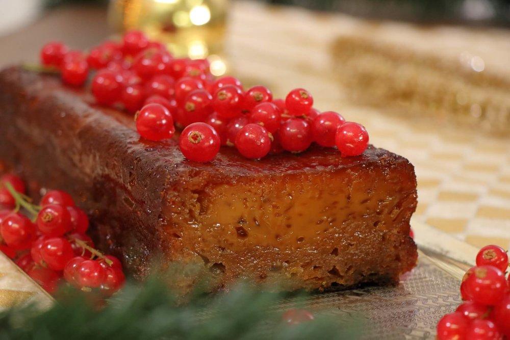 Χριστουγεννιάτικη πουτίγκα με μέλι από την Πορτογαλία