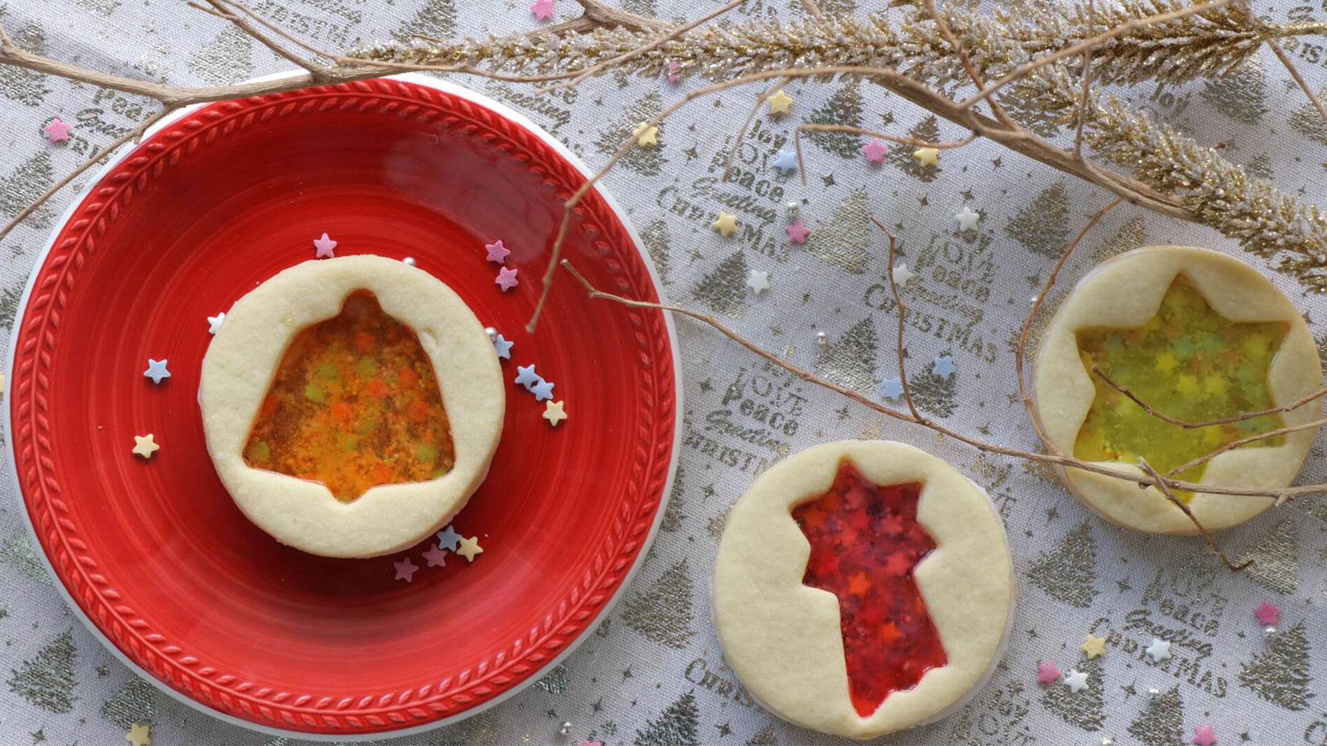 Μπισκότα με ζαχαρωτά και καραμέλες