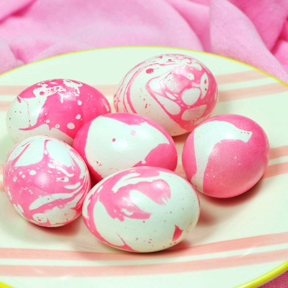 Marble βαμμένα Πασχαλινά αυγά