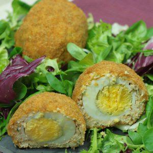 σκωτσέζικα αυγά με κοτόπουλο
