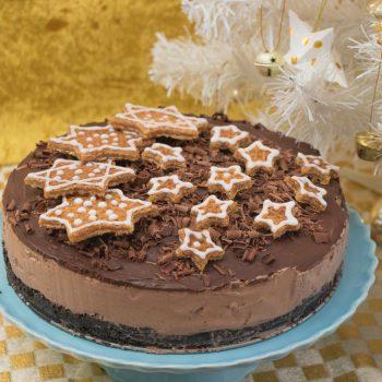 Σοκολατένιο γιορτινό Philadelphia cheesecake χωρίς ψήσιμο