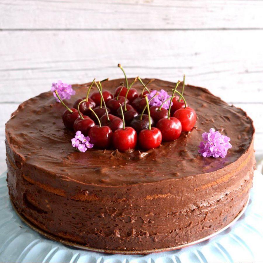 σοκολατένια τούρτα μους