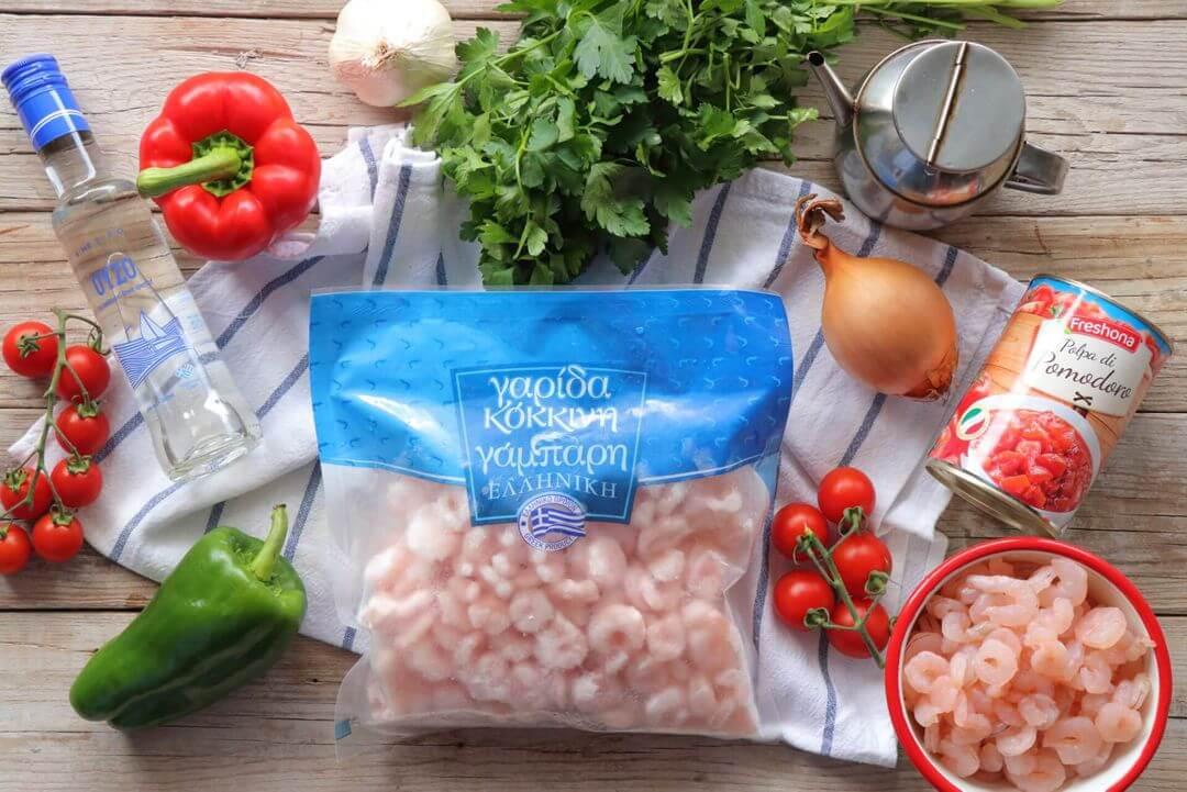Πικάντικες γαρίδες τηγανιά υλικά