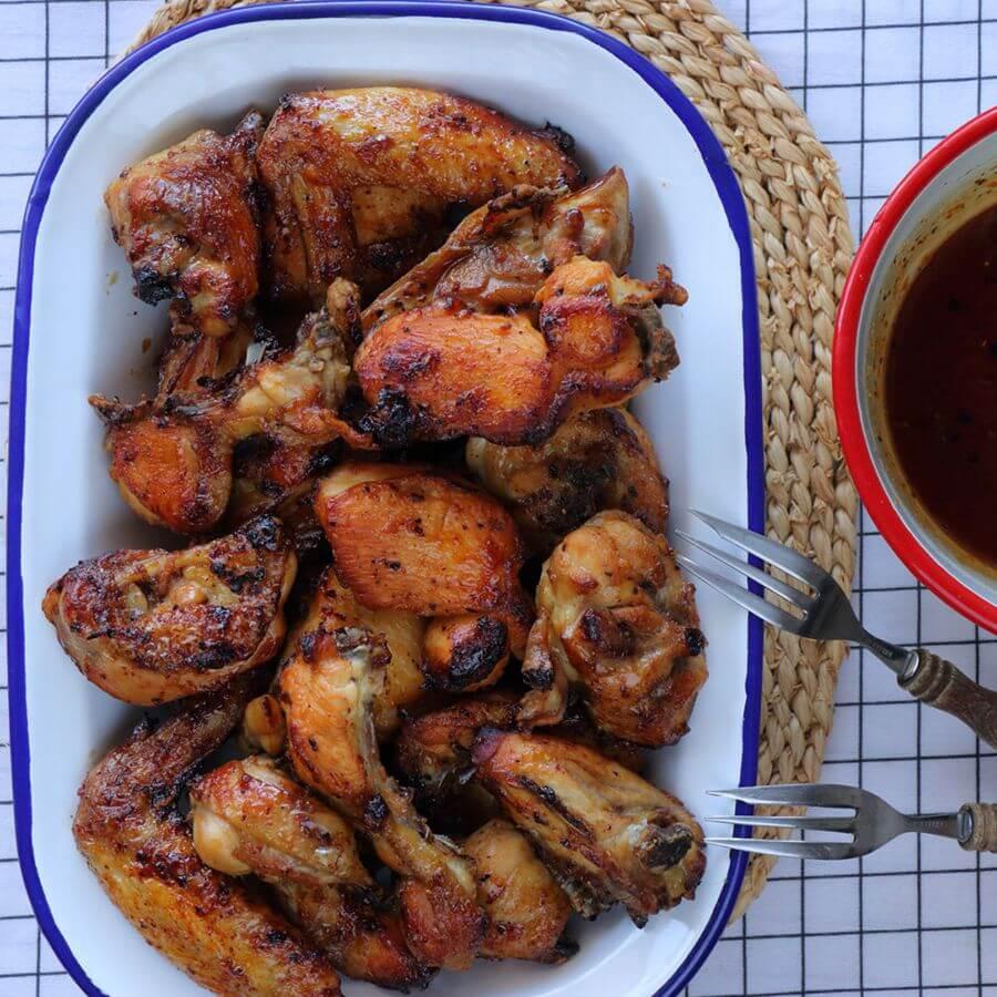 κοτόπουλο παϊδάκια τραγανό με μέλι