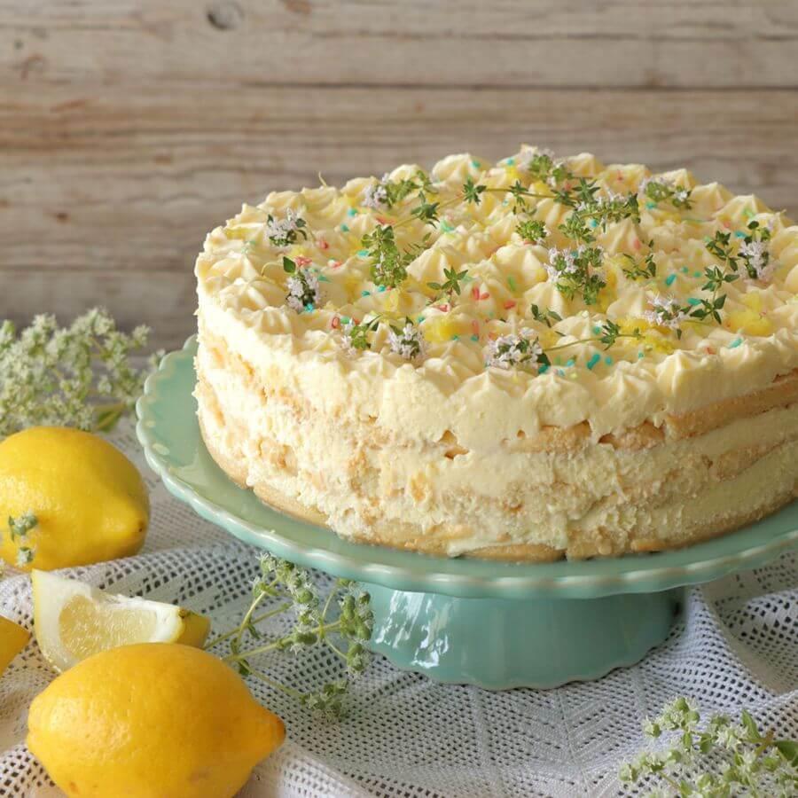 Εύκολη τούρτα λεμόνι με σαβαγιάρ