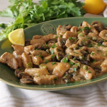 ψαρονέφρι λεμονάτο με μανιτάρια