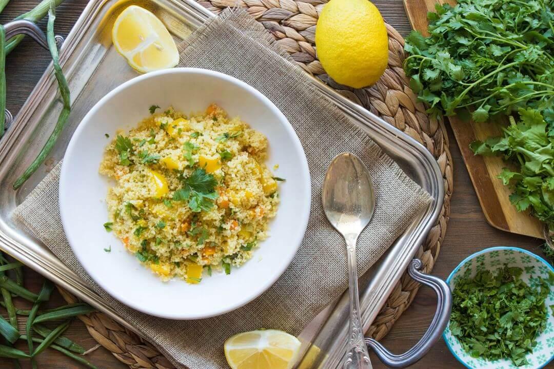 λεμονάτο κους κους με λαχανικά