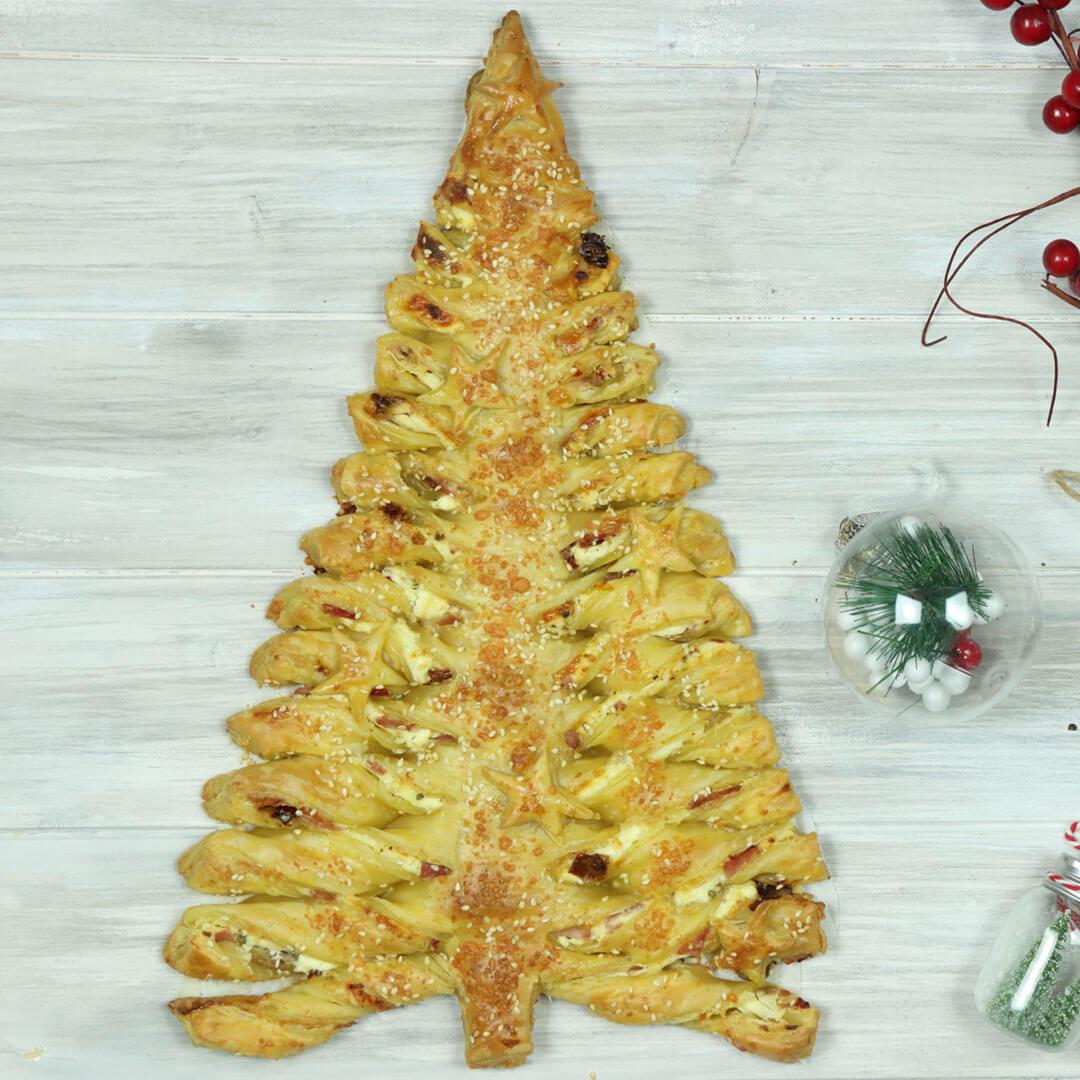 Αλμυρό Χριστουγεννιάτικο δέντρο σφολιάτας