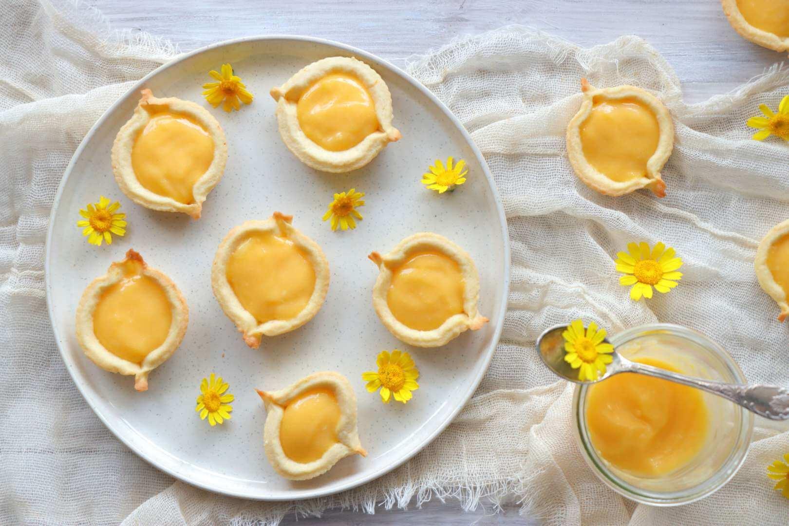 Μπισκότα βαρκούλες με κρέμα λεμόνι